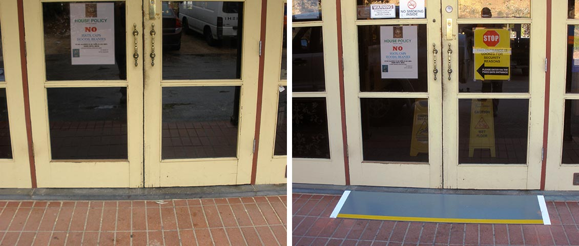 Entrance meets disability standards.