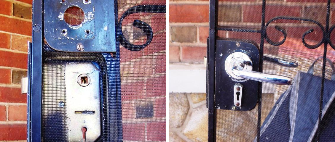 Security locks doors and gates refurbished.