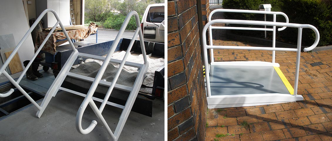 Wheelchair ramp built to Australian Standards.